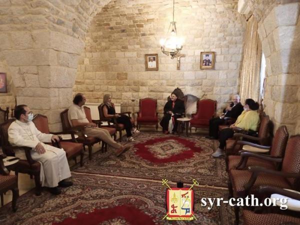 زيارة لاتحاد أورا الى غبطة بطريرك السريان الانطاكي وتأكيد على ضرورة حماية الوجود المسيحي في لبنان